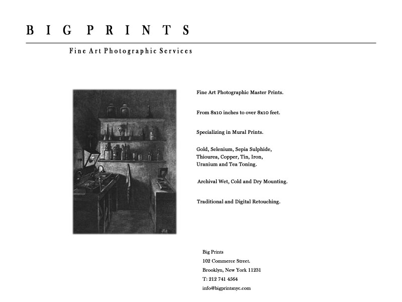 BIG PRINTS NYC Fine Art Photographic Services